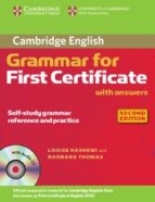 cambridge grammar for first certificate with answers and audio cd (2nd ed.)-louise hashemi-9780521690874