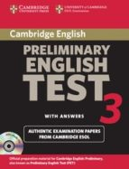 cambridge pet 3. self-study pack (cambridge preliminary english t est 3) (incluye 2 cd-rom)-9780521754774