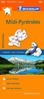 mapa regional midi pyrenees 9782067209374