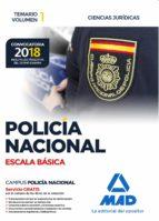 policia nacional escala basica: temario (vol. 1): ciencias juridicas-9788414214374