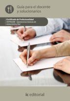 (i.b.d.)operaciones basicas de restaurante y bar. hotr0208 guia para el docente y solucionarios-9788415648574