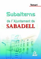 SUBALTERNS DE L AJUNTAMENT DE SABADELL: TEMARI