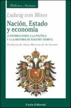 nacion, estado y economia-ludwig von mises-9788472095274