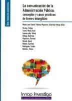 la comunicación de la administratión pública: conceptos y casos prácticos de bienes intangibles-maria jose canel crespo-9788473516174