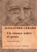 un ensayo sobre el genio-alexander gerard-9788498412574