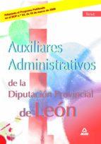 El libro de Auxiliares administrativos de la diputacion provincial de leon. t est autor VV.AA. DOC!