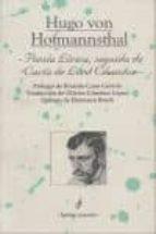 poesia lirica, seguida de carta de lord chados hugo von hofmannsthal 9788495142184