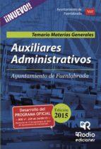 auxiliares administrativos del ayuntamiento de fuenlabrada. temario materias generales (ebook)-9781635039894