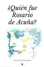¿quién fue rosario de acuña? (ebook)-9788416823994