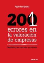 201 errores en la valoracion de empresas-pablo fernandez-9788423426294