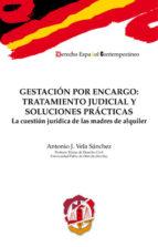 gestacion por encargo: tratamiento judicial y soluciones practicas: la cuestion juridica de las madres de alquiler antonio j. vela sanchez 9788429018394