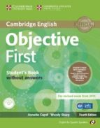 objective first for spanish speakers student s pack with answers (student s book with cd rom, workbook with audio cd) 4th edition 9788483236994