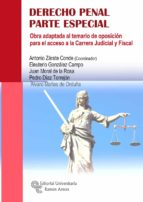 derecho penal: parte especial: obra adaptada al temario de oposicion para el acceso a la carrera judicial y fiscal 9788499612294