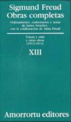 obras completas: totem y tabu y otras obras (1913-1914)-sigmund freud-9789505185894