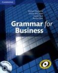 GRAMMAR FOR BUSINESS: PAPERBACK / AUDIO CD - 9780521727204 - MICHAEL MCCARTHY