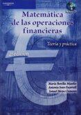 MATEMATICA DE LAS OPERACIONES FINANCIERAS. TEORIA Y PRACTICA - 9788497323734 - ISMAEL MOYA CLEMENTE
