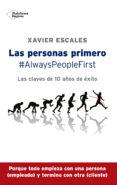 LAS PERSONAS PRIMERO - 9788417002244 - XAVIER ESCALES
