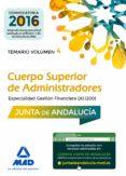 CUERPO SUPERIOR DE ADMINISTRADORES [ESPECIALIDAD GESTION FINANCIERA (A1 1200)] DE LA JUNTA DE ANDALUCIA: TEMARIO VOLUMEN 4 - 9788414202654 - VV.AA.