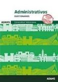 ADMINISTRATIVOS CUESTIONARIOS GENERALITAT VALENCIANA - 9788491478454 - VV.AA.