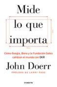MIDE LO QUE IMPORTA: COMO GOOGLE, BONO Y LA FUNDACION GATES CAMBIAN EL MUNDO CON OKR - 9788416883264 - JOHN DOERR