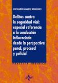DELITOS CONTRA LA SEGURIDAD VIAL: ESPECIAL REFERENCIA A LA CONDUC CIÓN INFLUENCIADA DESDE LA PERSPECTIVA PENAL, PROCESAL Y POLICIAL - 9788430976164 - JOSE RAMON ALVAREZ RODRIGUEZ