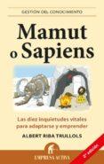 MAMUT O SAPIENS - 9788496627574 - ALBERT RIBA TRULLOLS