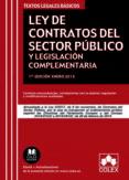 LEY DE CONTRATOS DEL SECTOR PUBLICO Y LEGISLACION COMPLEMENTARIA ACTUALIZADO A LA LEY 9/2017 DE 8 DE NOVIEMBRE - 9788417135584 - VV.AA.