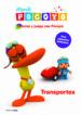 colorea y juega con pocoyo: transportes (libro con adhesivos de p urpurina)-9788408099154