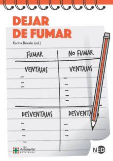 Descargar pdf ebook DEJAR DE FUMAR