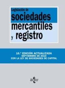 Viamistica.es Legislacion De Sociedades Mercantiles Y Registro (16ª Edicion) Image