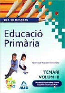Bressoamisuradi.it Cos De Mestres. Educacio Primaria Vol. Iii Image