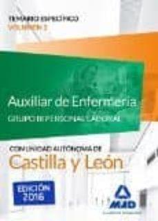 Auxiliar De Enfermería Grupo Iii Personal Laboral De La Junta De Castilla Y León Temario Específico Volumen 1 Vv Aa Comprar Libro