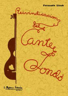 reivindicacion del cante jondo (ed. facsimil de la ed. de 1932)-fernando lluch-9788497610704