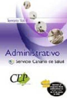Javiercoterillo.es Administrativo Del Servicio Canario De Salud. Temario Vol. I. Image