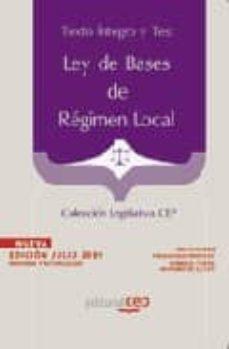 Cdaea.es Ley De Bases De Regimen Local. Texto Integro Actualizado Y Test. Coleccion Legislativa Cep Image
