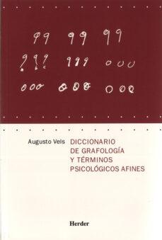 diccionario de grafologia y terminos psicologicos afines-augusto vels-9788425424014