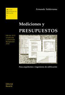 mediciones y presupuestos-fernando valderrama-9788429132014