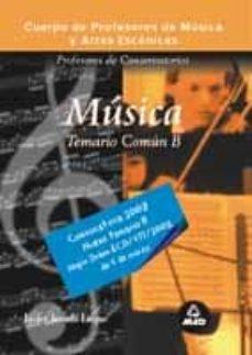 Bressoamisuradi.it Cuerpo De Profesores De Musica Y Artes Escenicas. Profesores De C Onservatorios. Musica, Temario Comun B Image