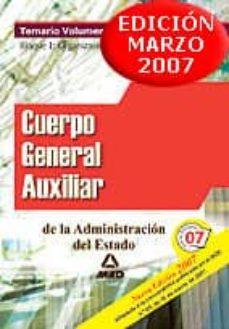 Geekmag.es Cuerpo General Auxiliar De La Administracion Del Estado. Temario Volumen I. Parte I : Organizacion Publica Image