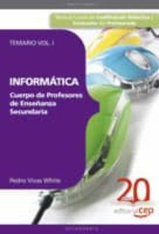 Permacultivo.es Cuerpo De Profesores De Enseñanza Secundaria. Informatica. Temari O Vol. I. Image