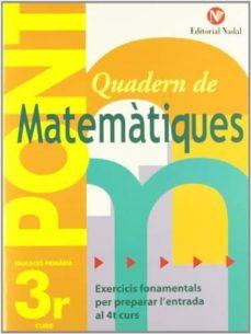 pont matemàtiques         ( educación primaria 3r )-9788478874514