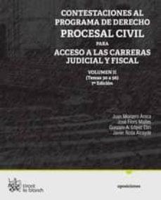 Titantitan.mx Contestaciones Al Programa De Derecho Procesal Civil Volumen Ii P Ara Acceso A Las Carreras Judicial Y Fiscal (7ª Ed) Image