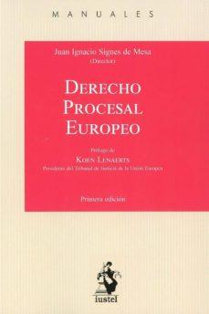 Descargar DERECHO PROCESAL EUROPEO gratis pdf - leer online
