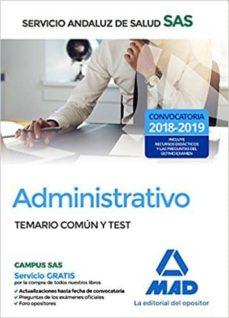 administrativo del servicio andaluz de salud. temario común y test-9788414210024