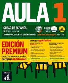 Libros de audio descargar ipad AULA 1: LIBRO DEL ALUMNO + CD (A1) EDICION PREMIUM. CURSO DE ESPAÑOL (NUEVA EDICION) de AA.VV 9788417710224 (Spanish Edition)