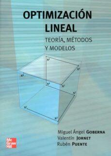 optimizacion lineal-miguel angel goberna-9788448140724