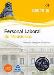 Chapultepecuno.mx Personal Laboral De Ministerios Grupo Iv. Temario Y Test Parte Común Image