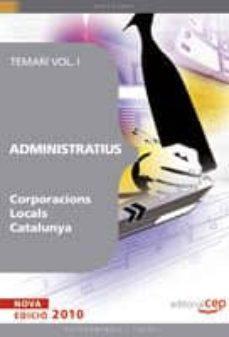 administratiu corporacions locals catalunya. temari i-9788499372624