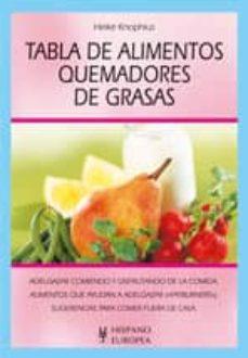 tabla de alimentos quemadores de grasas-keike knophius-9788425515934