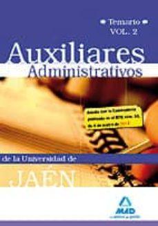 Emprende2020.es Auxiliares Administrativos De La Universidad De Jaen. Temario Vol Umen Ii Image